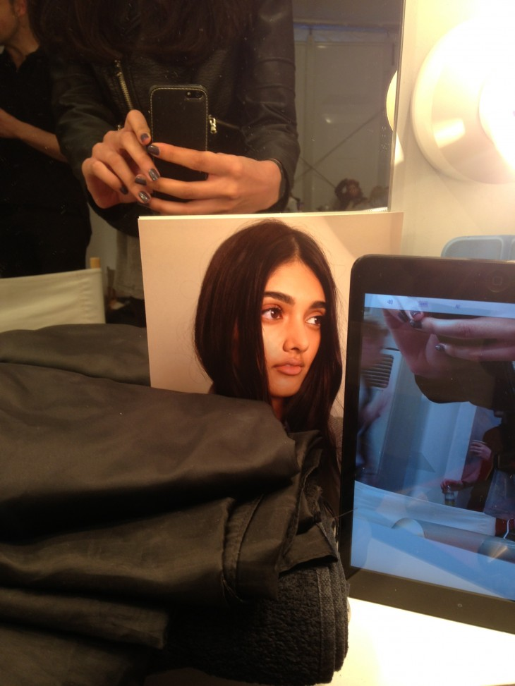 Neelam Johal Backstage Burberry Runway London Fashion Week SS14 (6)