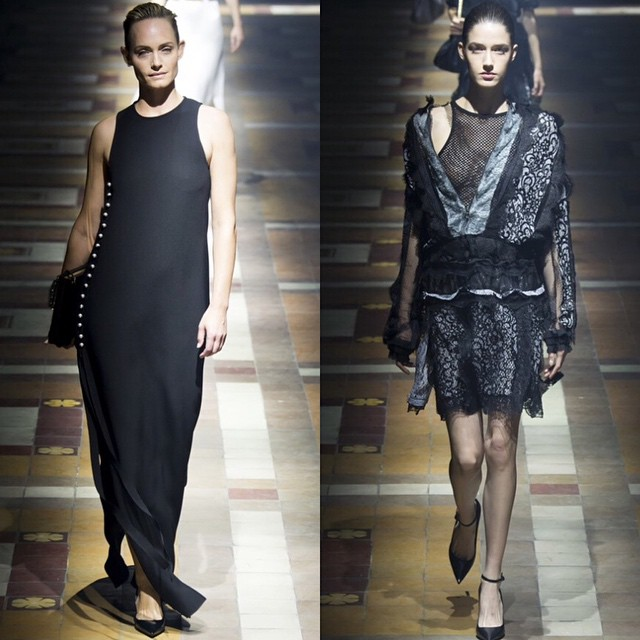 Supermodel #AmberValletta and runway favourite #JosephineVanDelden walked for Lanvin last night #PFW SS15 ✌️@lanvinofficial