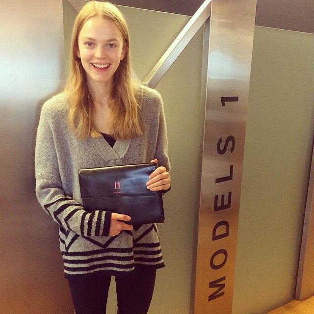WELCOME HOME GRACE! So happy to see this one after an amazing season #SS15 #ONE2WATCH #InsideModels1 @graceplowden ??