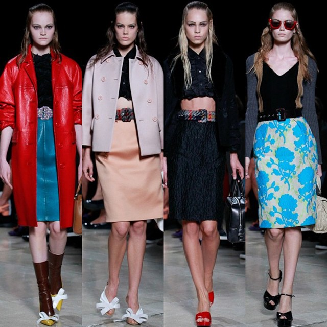 It's nearly all over!! — 4 walks at #MiuMiu feat. Our exciting new girl Mia, Taja, Line B and #HollieMaySaker #PFW SS15