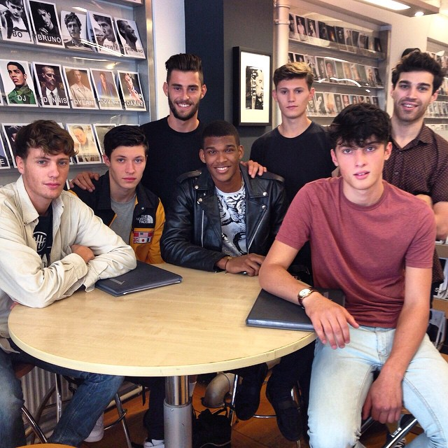 Just a little bit of guy time with the #malemodels in-between castings #InsideModels1 ?