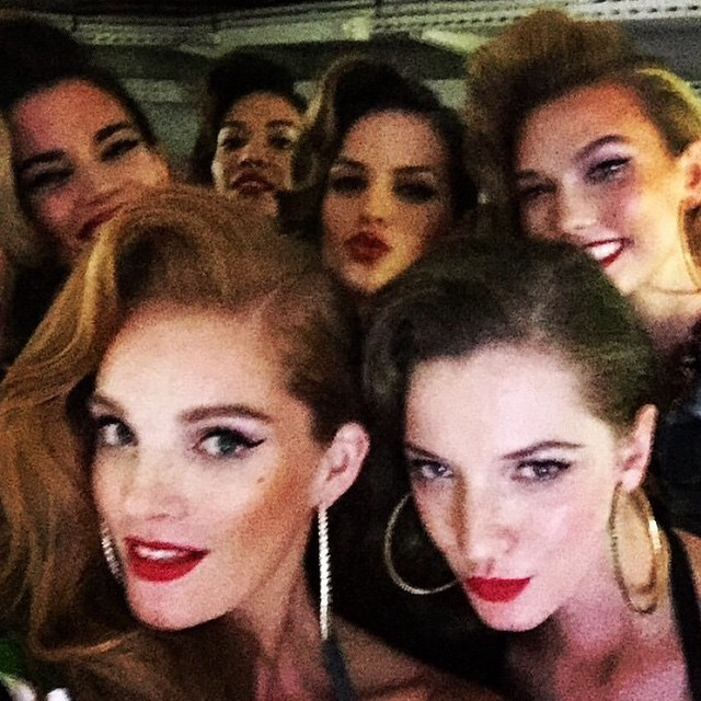 A MAJOR model selfie from @alexinagraham at #JeanPaulGaultier's final RTW collection at #PFW #SS15???