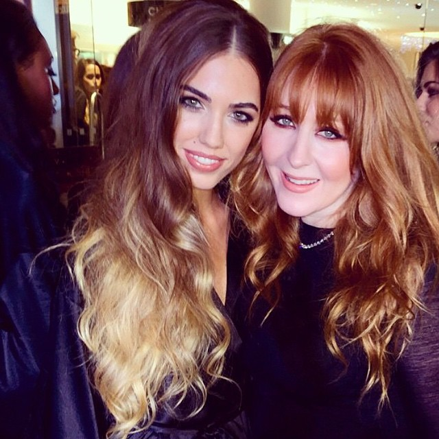 @amberlebonofficial this evening at @ctilburymakeup's #CTBeautyBooth wearing the supermodel look!! ??