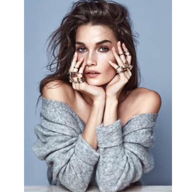 I die — #JessicaSikosek for W. Britt jewellery by #GregSawles ??? @wbrittnyc