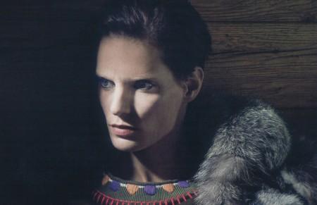 Iris Strubegger — Harper's Bazaar Germany December 2014 by Jork Weismann
