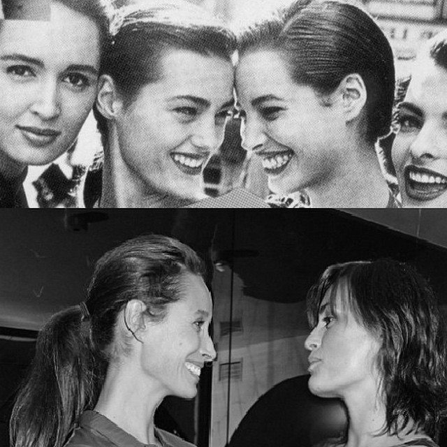 Supermodels — #YasminLeBon & #ChristyTurlington together 26 years on ? #thesupers
