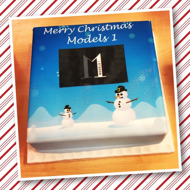 Check out the amazing Christmas cake @alexinagraham gave us! Thank you Alexina ??❤️? #models1 #christmas #insidemodels1