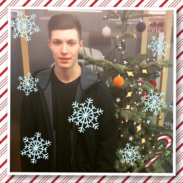 George @maowlee popped by yesterday to wish us merry Christmas! ?? #models1 #insidemodels1 #xmas