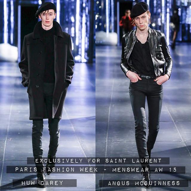 ?⚡️?⚡️? #EXCLUSIVE - Huw Carey & Angus McGuinness walk for #SAINTLAURENT AW 15 ?⚡️?⚡️? #models1 #m1men #pfw @huw_carey @angusspike
