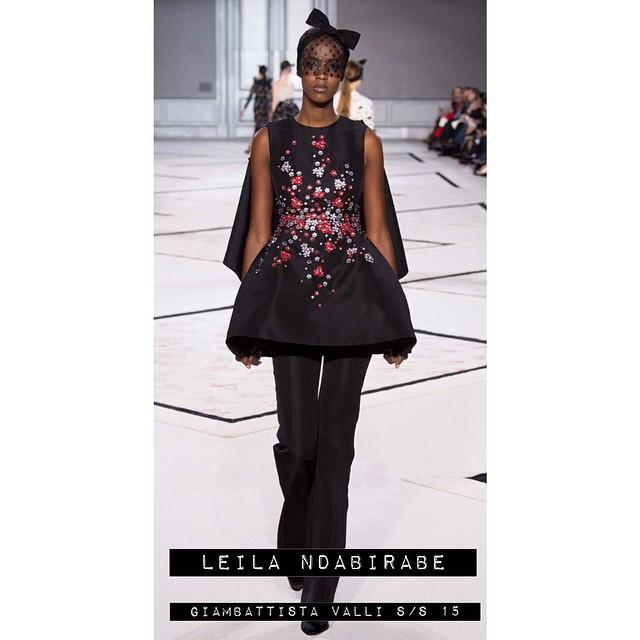 ⚡️⚡️⚡️ Leila Ndabirabe @ndaleila - Giambattista Valli S/S 15! ⚡️⚡️⚡️ #models1 #giambattistavalli #couture
