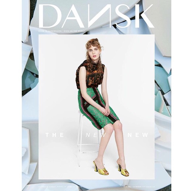 Florence Kosky's first cover!!! Wooo ???❤️❤️ ❤️ Dansk Magazine #models1 @floskyyx