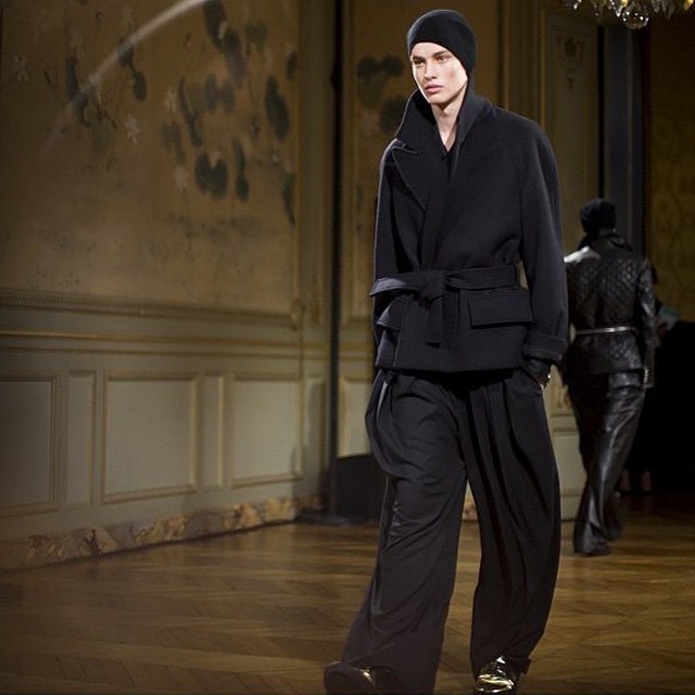 ⚡️⚡️ NICLAS NILSSON @niclasnilsson__ - BALMAIN HOMME @balmainparis - PARIS MEN'S FASHION WEEK A/W 15 ⚡️⚡️ #models1 #m1men #pfw