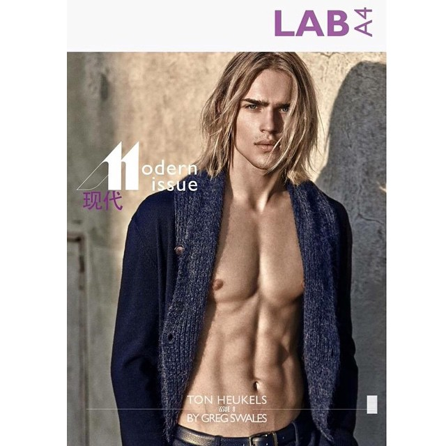 ✨TON HEUKELS - LAB A4 Spring 2015: The Modernist Issue by @gregswalesart ✨@therealtonheukels #models1  #m1men