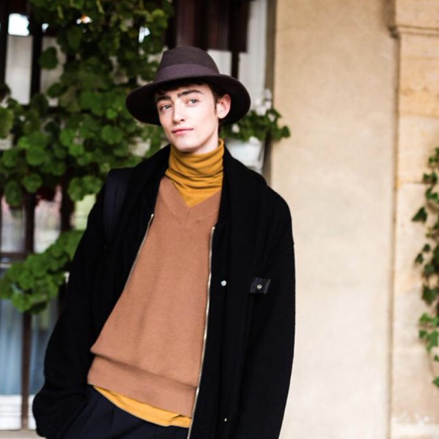 ⚡️⚡️BEN WATERS @benjamin.waters THE CHRISTOPH LEMAIRE #pfw #aw15 #models1 #m1men ⚡️⚡️??