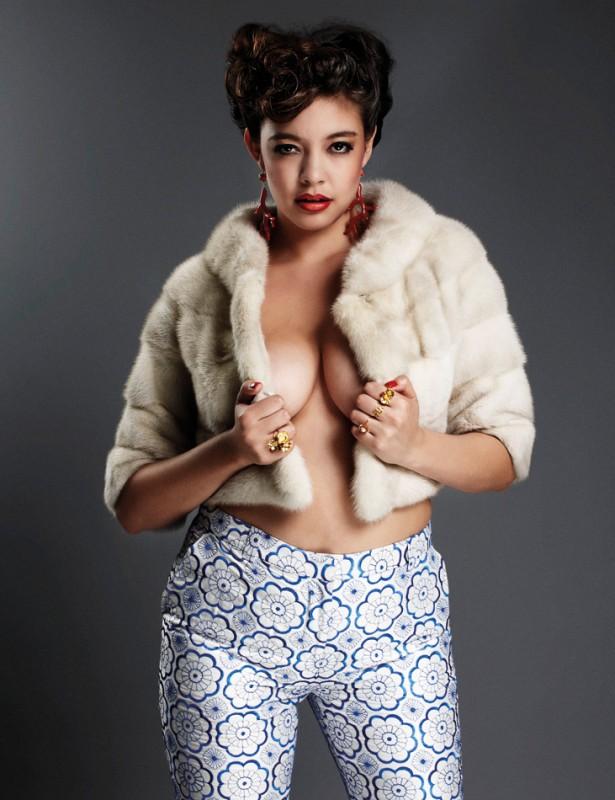 British nued model fur #2