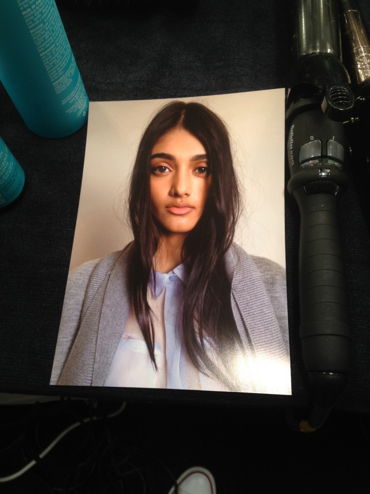 Neelam Johal Backstage Burberry Runway London Fashion Week SS14 (7)