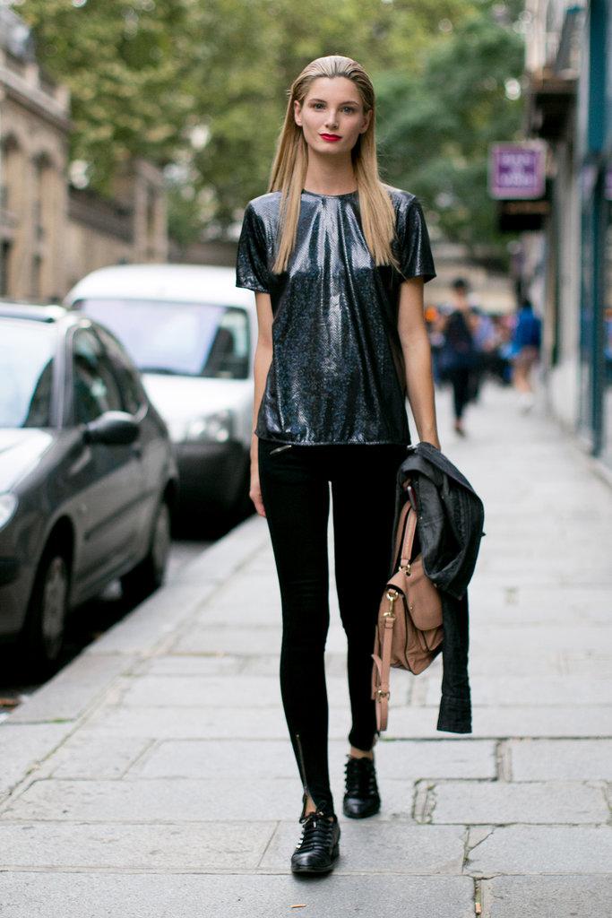 models street style from fashion week springsummer 2014