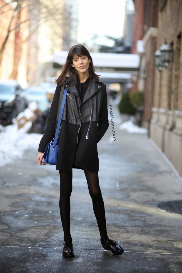 Model Street Style At Fall 2014 New York Fashion Week Models 1 Blog