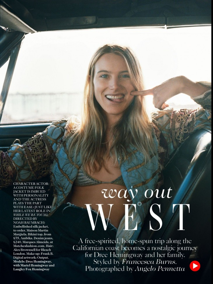 Dree Hemingway - Vogue July by Angelo Pennetta